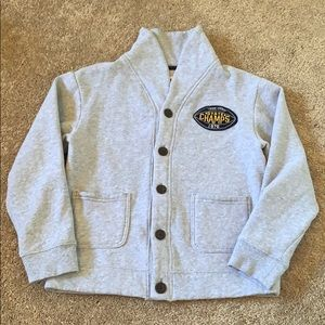 Gymboree 'Football State Champs 1976' Cardigan 10